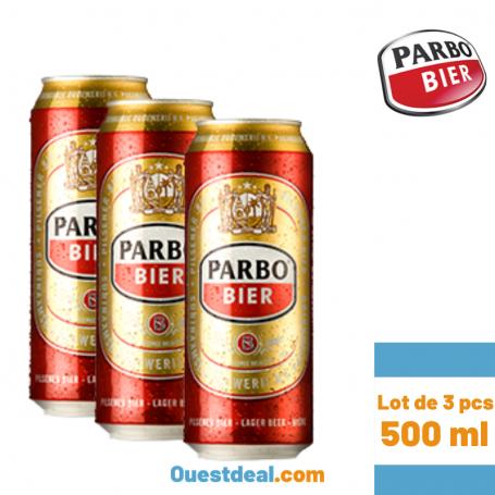 Lot de 3 Bière PARBO de 500 ml