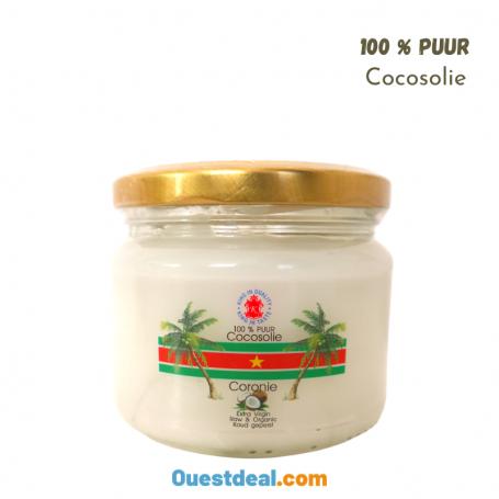 Pure huile de noix coco naturel